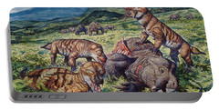 A Group Of Carnivorous Cynognathus Prey Portable Battery Charger