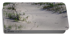 A Gull's Walk To The Ocean Portable Battery Charger by Greg Graham