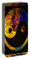 A Happy Balance Of Energies Abstract Healing Art Portable Battery Charger
