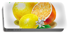 A Happy Citrus Bunch Grapefruit Lemon Orange Portable Battery Charger