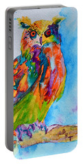 A Hootiful Moment In Time Portable Battery Charger by Beverley Harper Tinsley