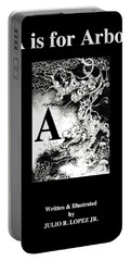 A Is For Arbol Portable Battery Charger by Julio Lopez