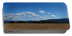 A June Panorama In Southern Oregon Portable Battery Charger by Mick Anderson