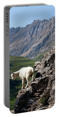A Kid Mountain Goat In Glacier National Portable Battery Charger