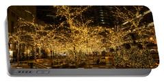 A Little Golden Garden In The Heart Of Manhattan New York City Portable Battery Charger