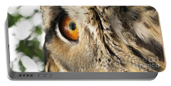 Portable Battery Charger featuring the photograph Bubo Bubo- Eurasian Eagle Owl. Close Up. by Ausra Huntington nee Paulauskaite