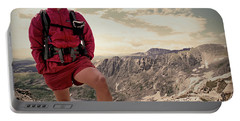 A Male Hiker Stops To Take In The Views Portable Battery Charger