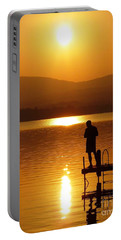 Portable Battery Charger featuring the photograph A Man And His Thoughts  by Mike Ste Marie