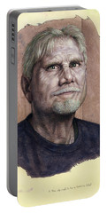 Portable Battery Charger featuring the painting A Man Who Used To Be A Serious Artist by James W Johnson