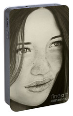 Portable Battery Charger featuring the painting A Mark Of Beauty - Beauty by Malinda Prudhomme