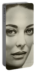 A Mark Of Beauty - Marion Cotillard Portable Battery Charger by Malinda Prudhomme