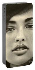A Mark Of Beauty - Megan Ewing Portable Battery Charger by Malinda  Prudhomme