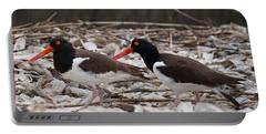 A Mated Pair Of Oyster Catchers Portable Battery Charger