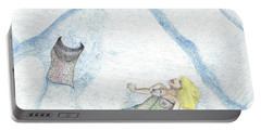 Portable Battery Charger featuring the drawing A Mermaids Moment by Kim Pate