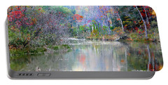 A Monet Autumn Portable Battery Charger by Mariarosa Rockefeller