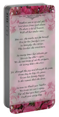 A Mother's Love  8x10 Format Portable Battery Charger by Debbie Portwood
