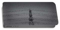 A Murmuration Of Starlings Portable Battery Charger