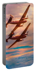 Portable Battery Charger featuring the photograph A Pair Of Flamingos by Chris Lord