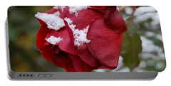 A Passing Unrequited - Rose In Winter Portable Battery Charger