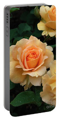 A Perfect Orange Rose Portable Battery Charger by Eva Kaufman