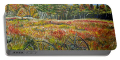 Portable Battery Charger featuring the painting A Prairie Treasure by Marilyn  McNish