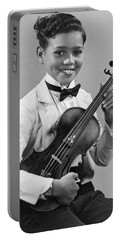 A Proud And Elegant Violinist Portable Battery Charger