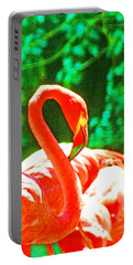 A Proud Flamingo Portable Battery Charger