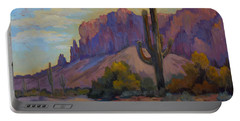 A Proud Saguaro At Superstition Mountain Portable Battery Charger