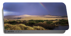 A Rainbow Over The Umpqua Dunes, Oregon Portable Battery Charger