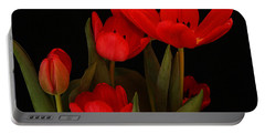 A Red Tulip Day Portable Battery Charger