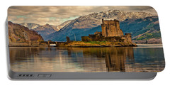 A Reflection At Eilean Donan Castle Portable Battery Charger