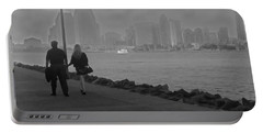 A Romantic Walk 2 Portable Battery Charger by Claudia Ellis