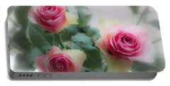 A Rose And A Rose And A Rose Portable Battery Charger