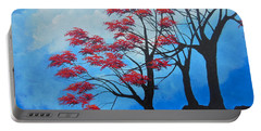 Portable Battery Charger featuring the painting A Safe Place by Dan Whittemore