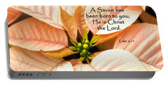 A Savior Has Been Born To You He Is Christ The Lord Portable Battery Charger