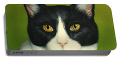 A Serious Cat Portable Battery Charger by James W Johnson