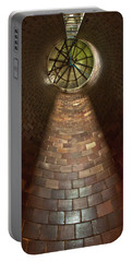 Portable Battery Charger featuring the photograph A Silo Of Light From Above by Jerry Cowart