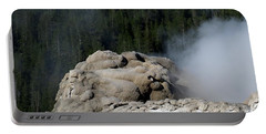 A Smoking Man. Yellowstone Hot Springs Portable Battery Charger by Ausra Huntington nee Paulauskaite