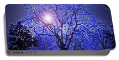 A Snow Glow Evening Portable Battery Charger by Lydia Holly