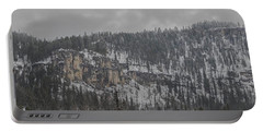 A Snowy Day In Spearfish Canyon Of South Dakota Portable Battery Charger