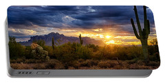 A Sonoran Desert Sunrise Portable Battery Charger