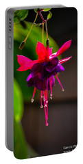 Portable Battery Charger featuring the photograph A Special Red Flower  by Gandz Photography
