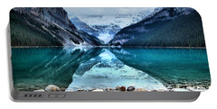A Still Day At Lake Louise Portable Battery Charger