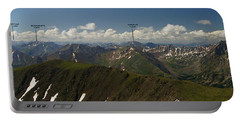 A Summit View Panorama With Peak Labels Portable Battery Charger