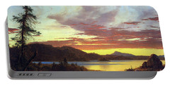 A Sunset By Frederick Edwin Church Portable Battery Charger