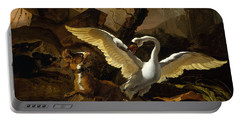 A Swan Enraged By Hondius Portable Battery Charger