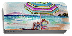 Portable Battery Charger featuring the painting A Sweet Day In Maui by Wendy Ray