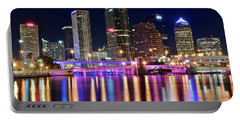 A Tampa Bay Night Portable Battery Charger by Frozen in Time Fine Art Photography