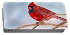 Portable Battery Charger featuring the painting A Touch Of Red by Lynne Reichhart
