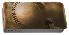 A Tribute To Babe Ruth And Baseball Portable Battery Charger by Dan Sproul